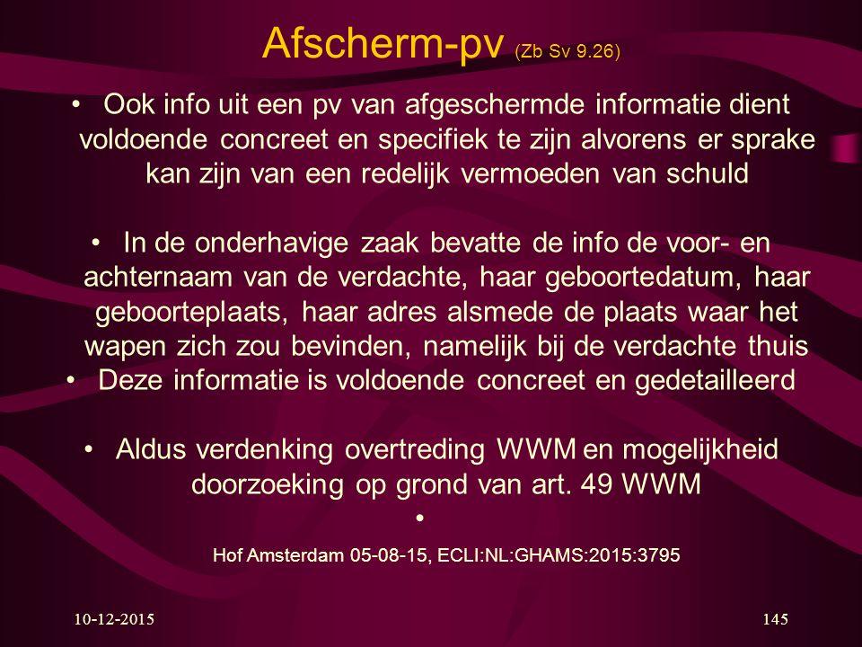 Afscherm-pv (Zb Sv 9.26)
