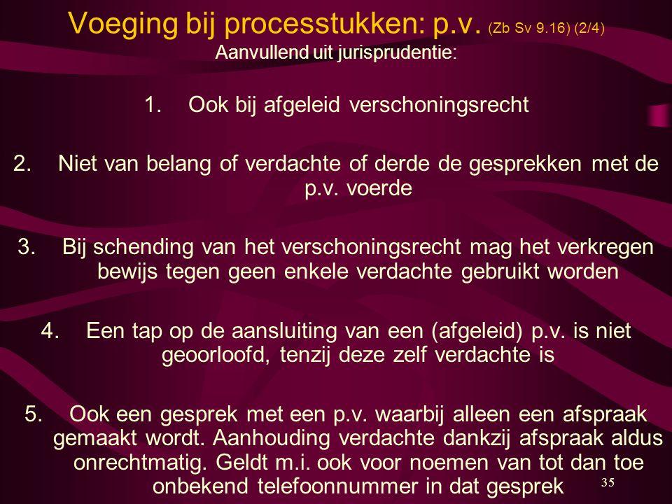 Voeging bij processtukken: p.v. (Zb Sv 9.16) (2/4)