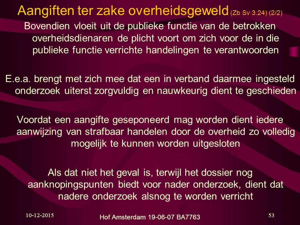 Aangiften ter zake overheidsgeweld (Zb Sv 3.24) (2/2)