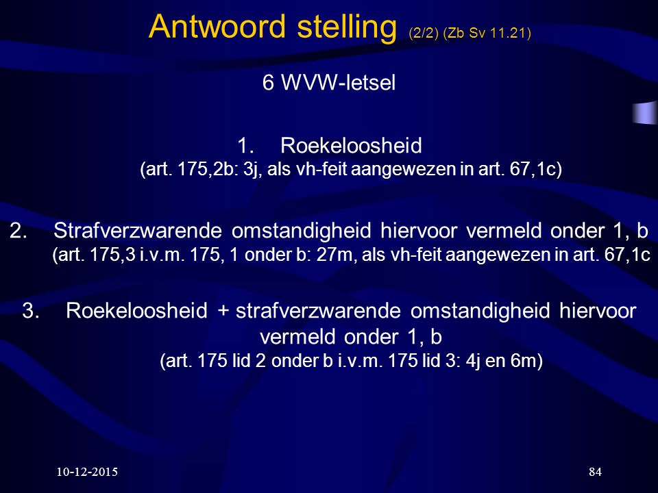 Antwoord stelling (2/2) (Zb Sv 11.21)