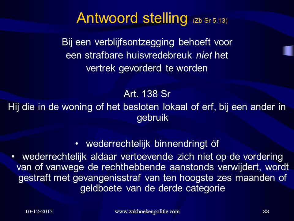 Antwoord stelling (Zb Sr 5.13)