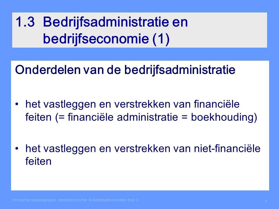 1.3 Bedrijfsadministratie en bedrijfseconomie (1)