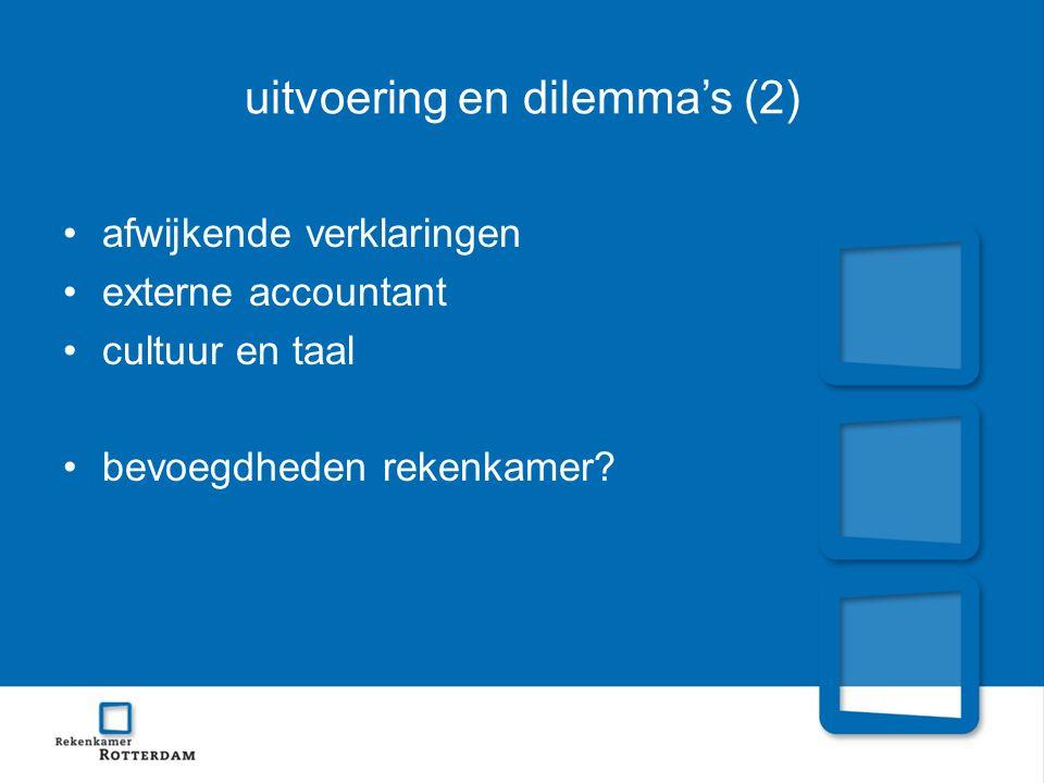 uitvoering en dilemma's (2)