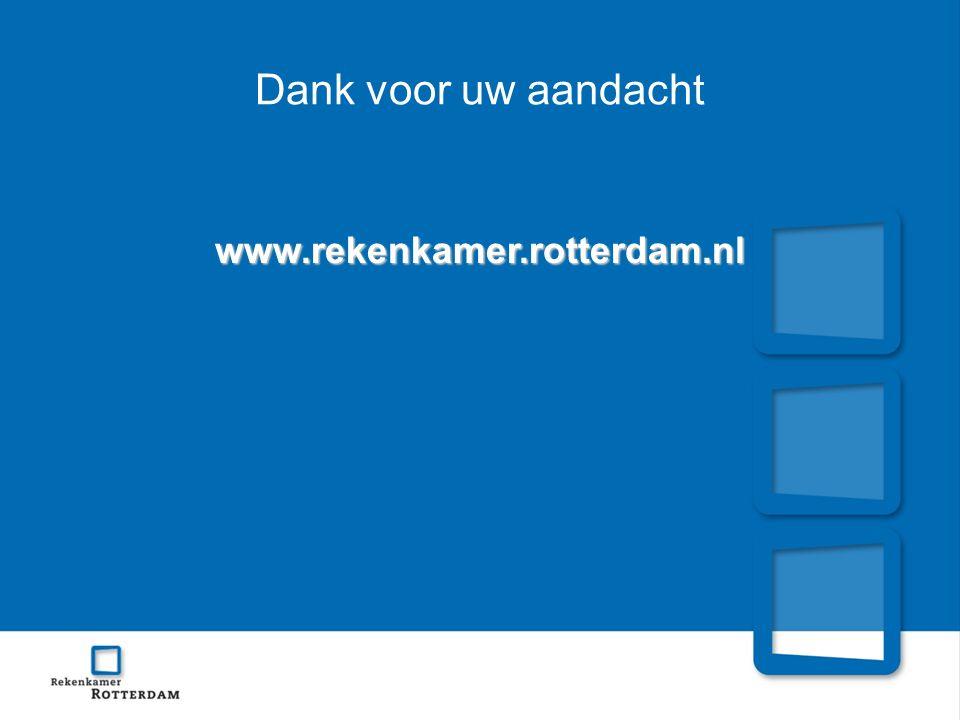 Dank voor uw aandacht www.rekenkamer.rotterdam.nl