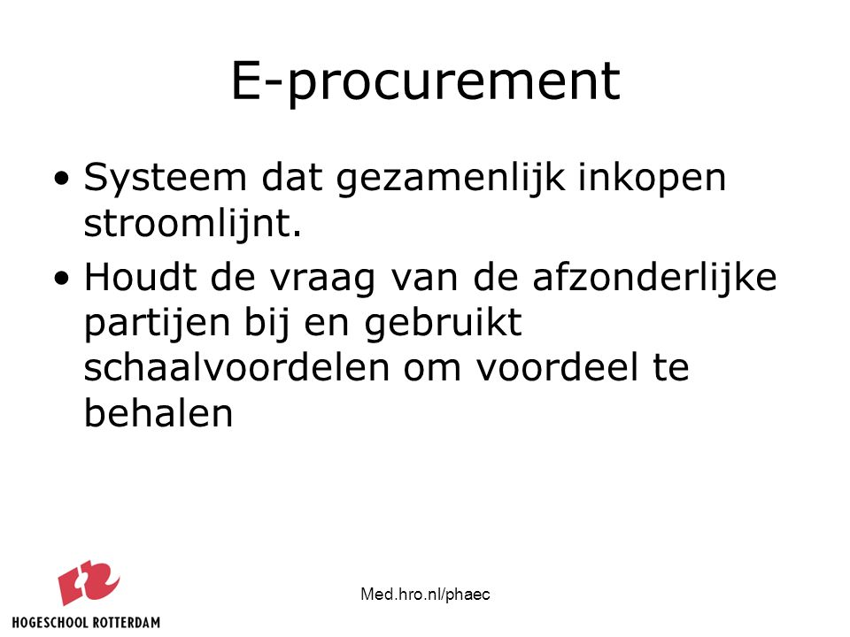 E-procurement Systeem dat gezamenlijk inkopen stroomlijnt.