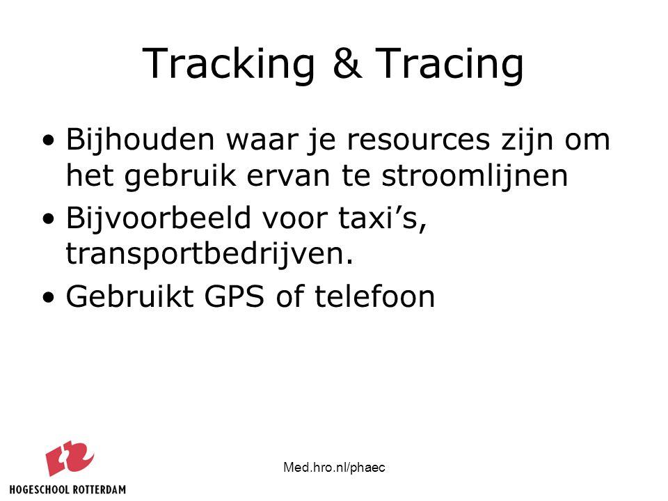 Tracking & Tracing Bijhouden waar je resources zijn om het gebruik ervan te stroomlijnen. Bijvoorbeeld voor taxi's, transportbedrijven.