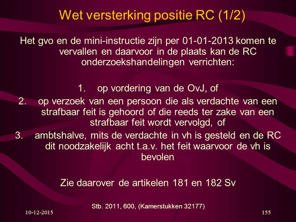 Wet versterking positie RC (1/2)