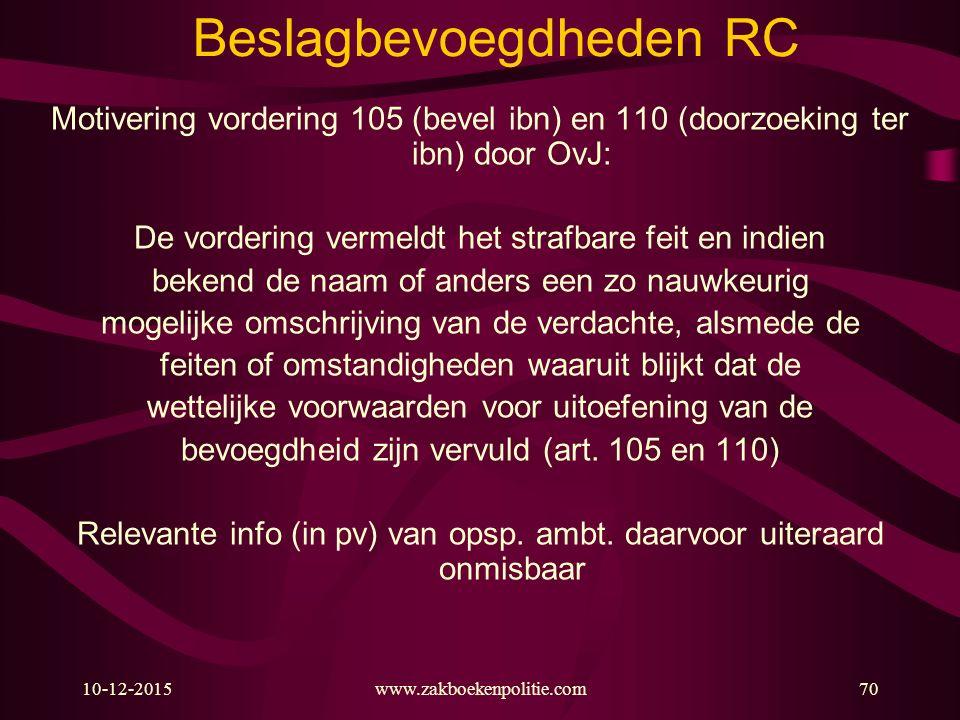Beslagbevoegdheden RC
