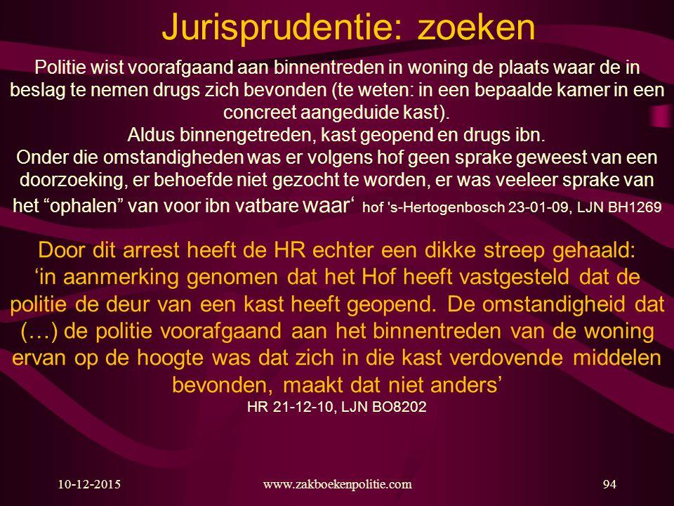 Jurisprudentie: zoeken