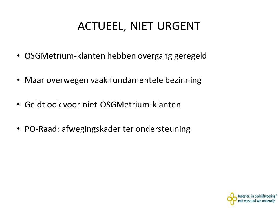 ACTUEEL, NIET URGENT OSGMetrium-klanten hebben overgang geregeld