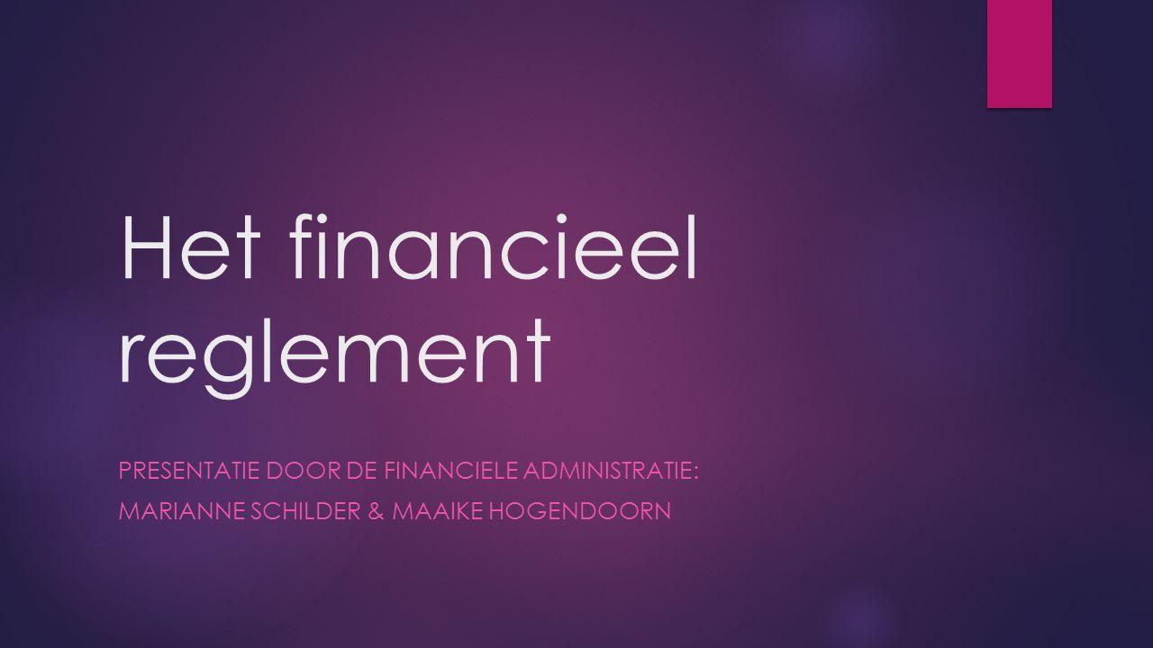 Het financieel reglement