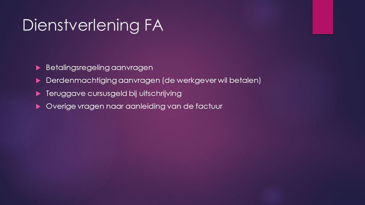 Dienstverlening FA Betalingsregeling aanvragen