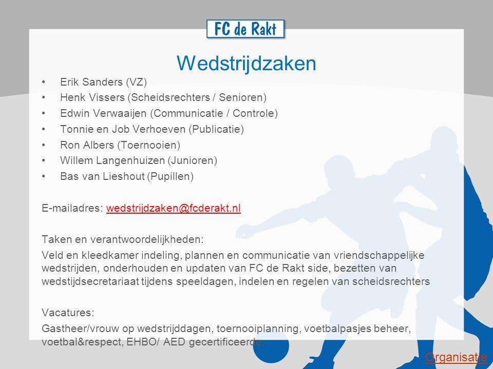 Wedstrijdzaken Organisatie Erik Sanders (VZ)