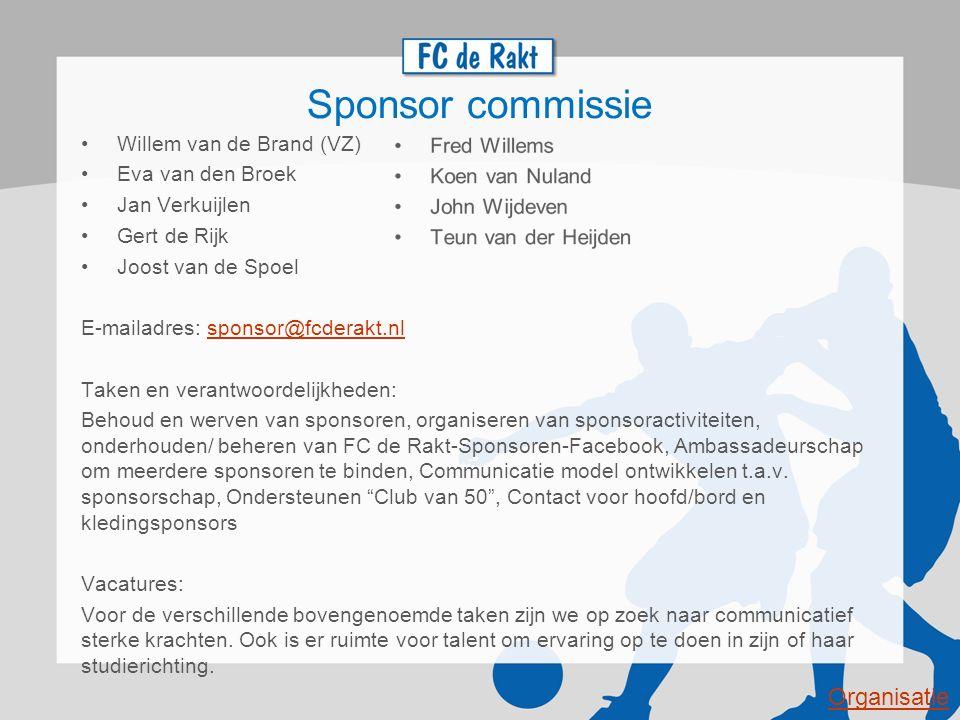 Sponsor commissie Organisatie Willem van de Brand (VZ)