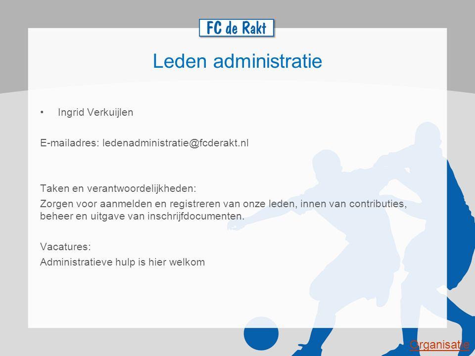 Leden administratie Organisatie Ingrid Verkuijlen