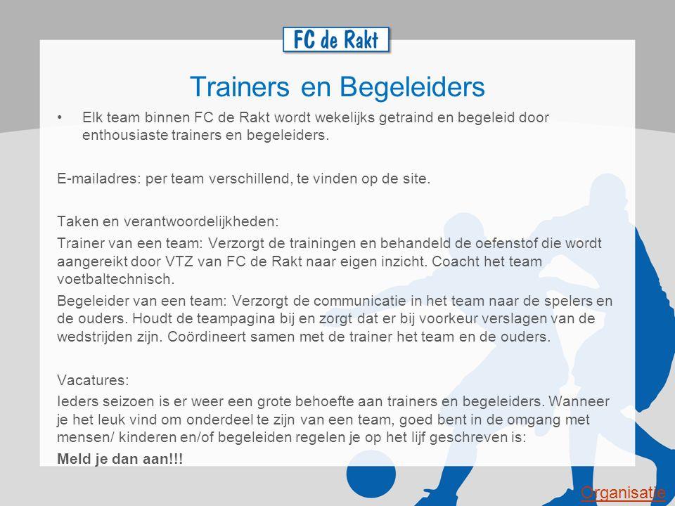 Trainers en Begeleiders