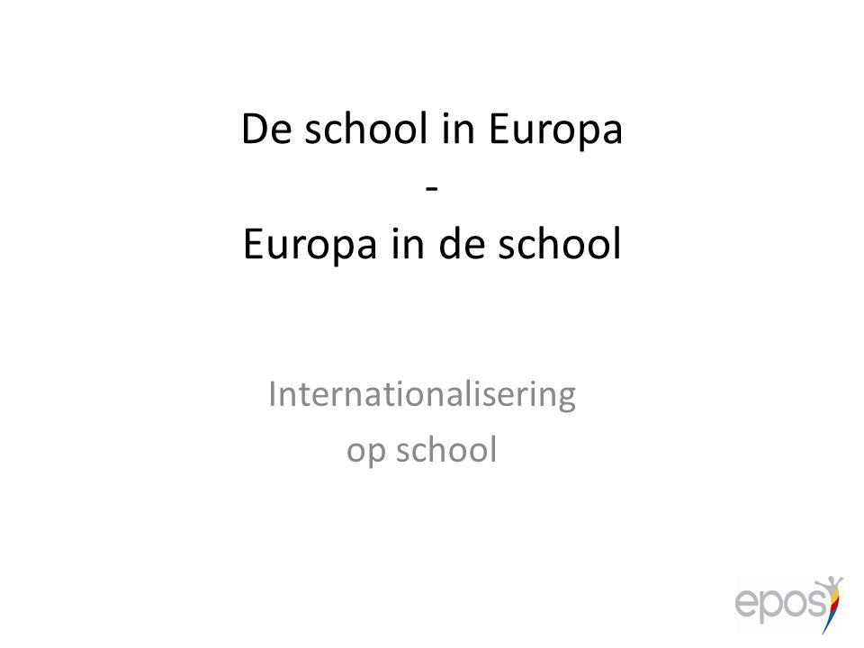 De school in Europa - Europa in de school