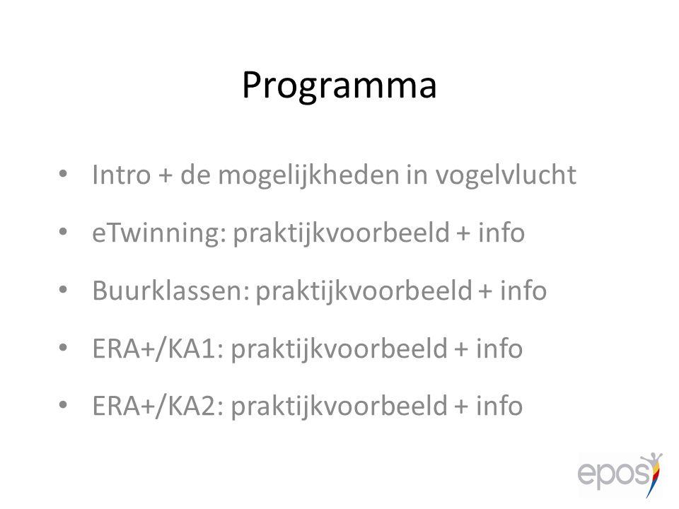 Programma Intro + de mogelijkheden in vogelvlucht
