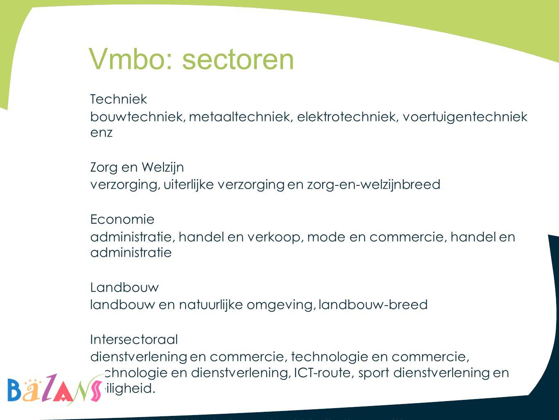 Vmbo: sectoren
