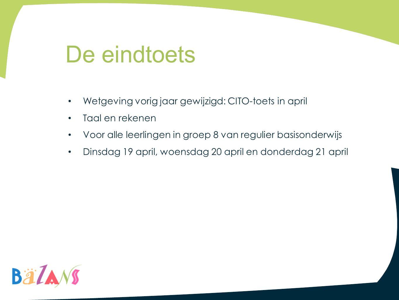 De eindtoets Wetgeving vorig jaar gewijzigd: CITO-toets in april