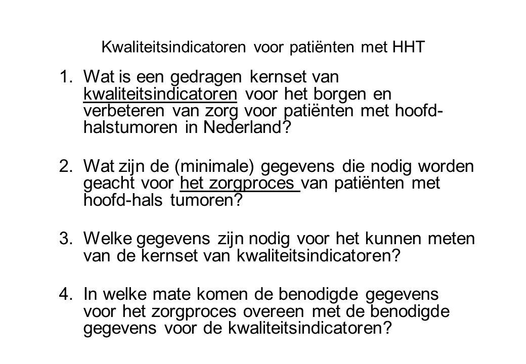Kwaliteitsindicatoren voor patiënten met HHT
