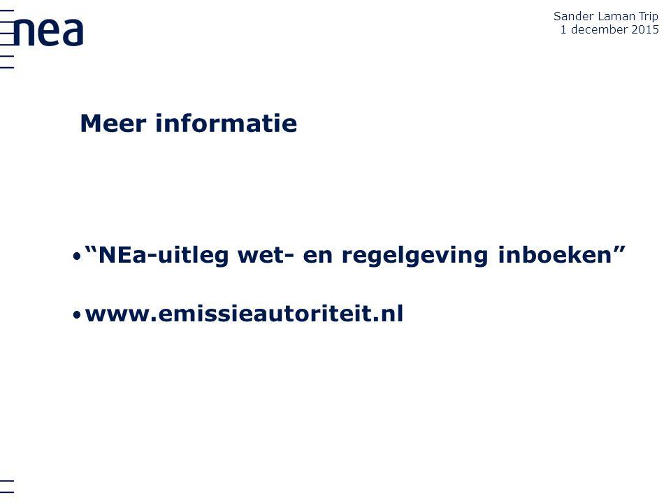 Meer informatie NEa-uitleg wet- en regelgeving inboeken