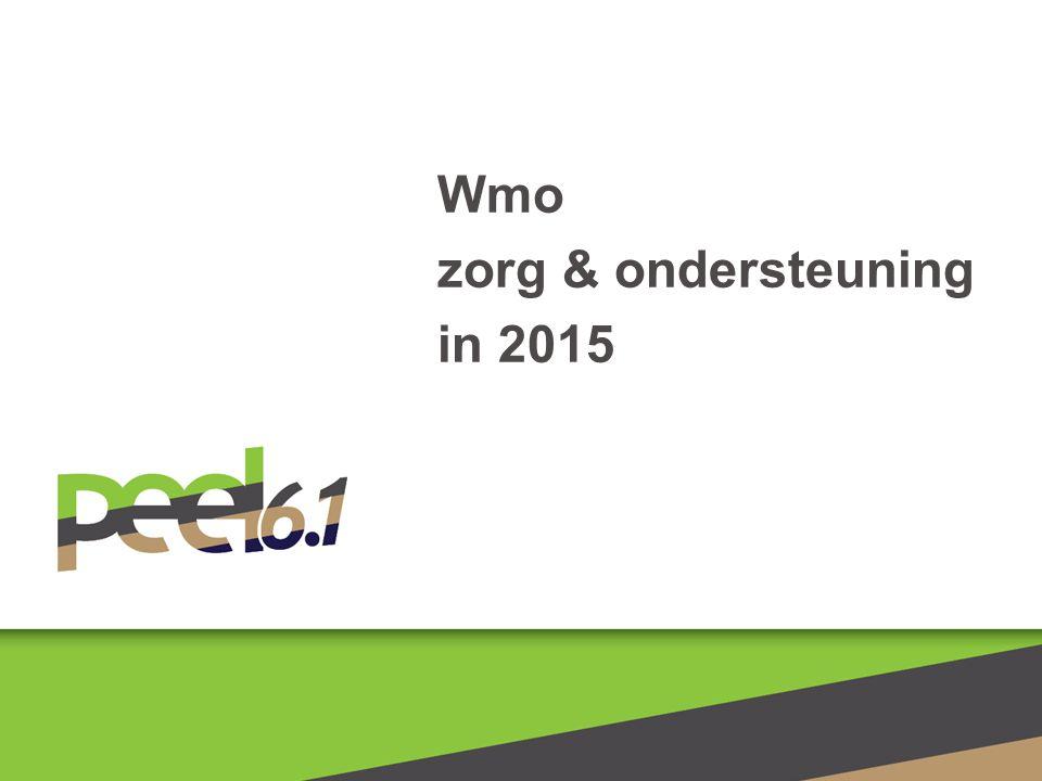 Wmo zorg & ondersteuning in 2015
