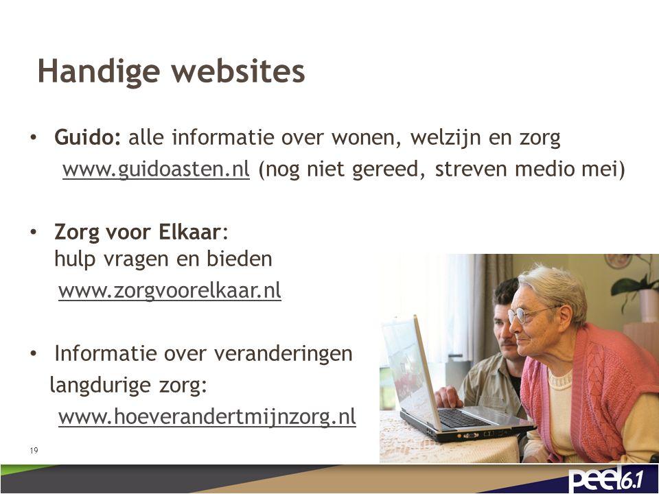 Handige websites Guido: alle informatie over wonen, welzijn en zorg