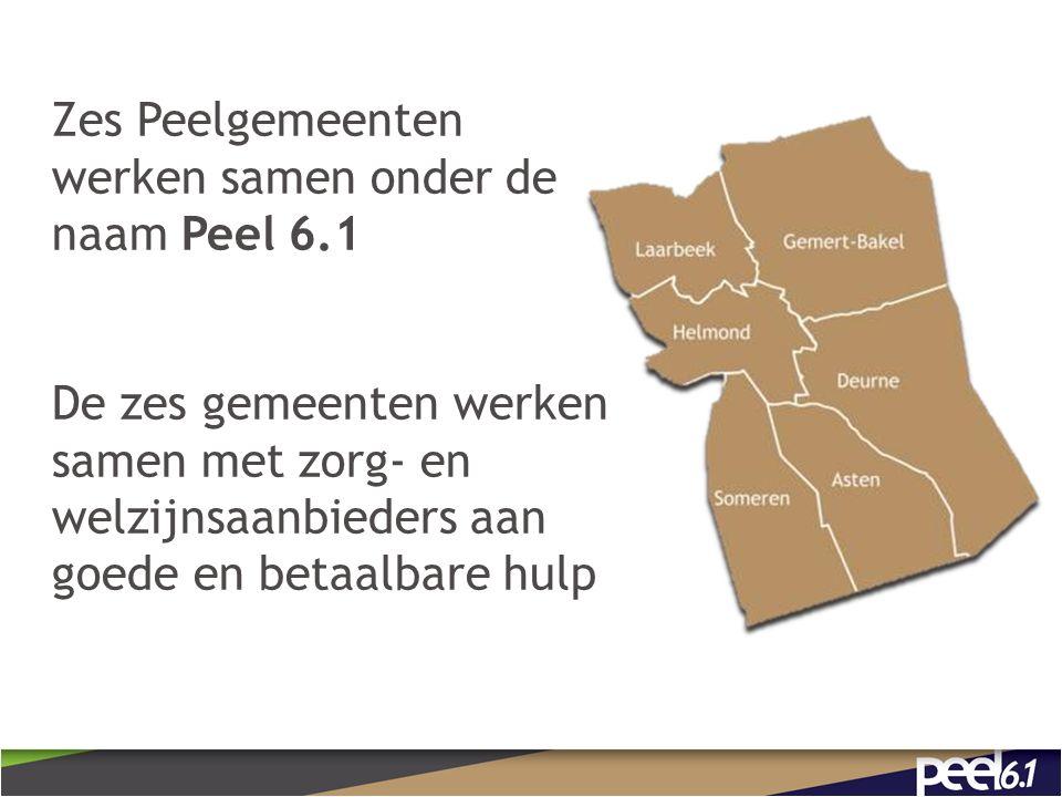 Zes Peelgemeenten werken samen onder de naam Peel 6