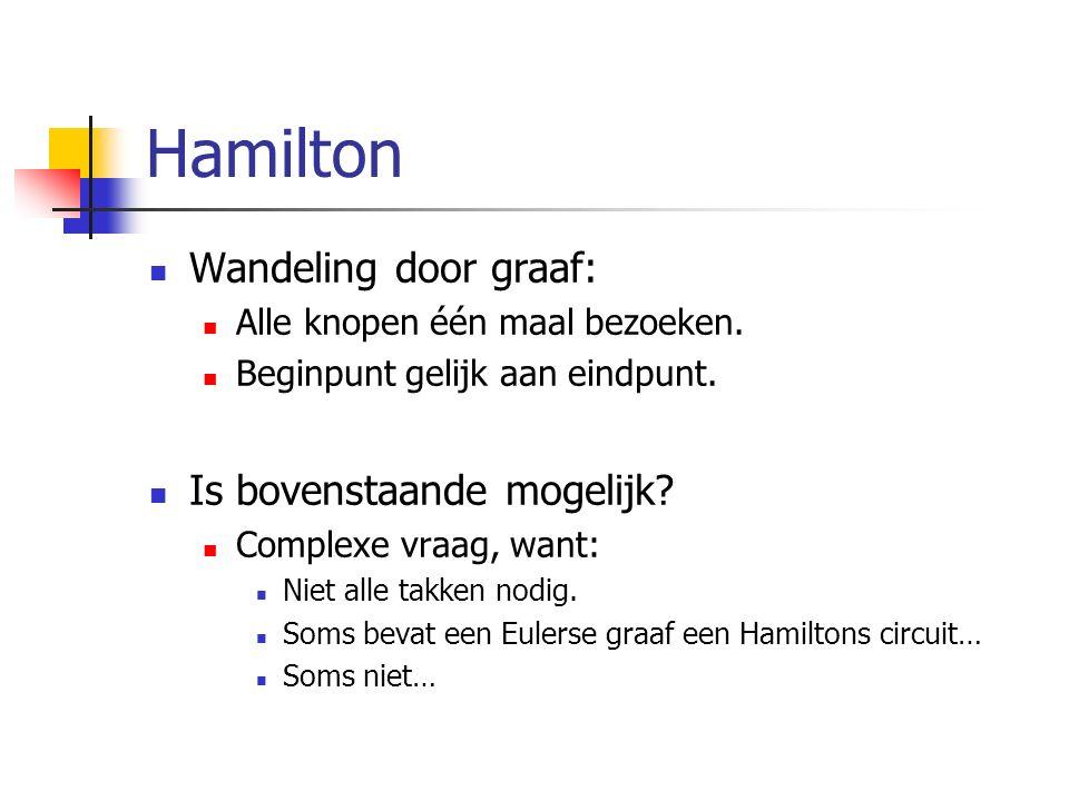 Hamilton Wandeling door graaf: Is bovenstaande mogelijk