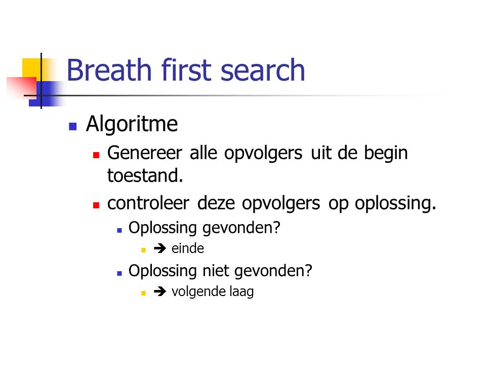 Breath first search Algoritme
