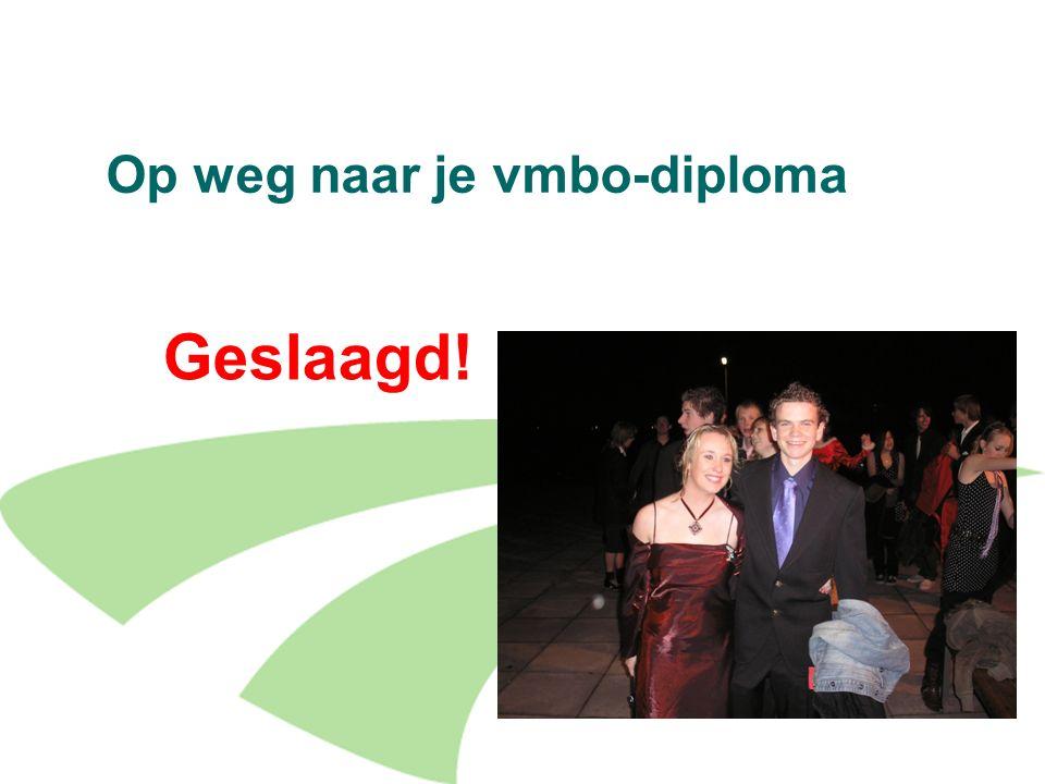 Op weg naar je vmbo-diploma