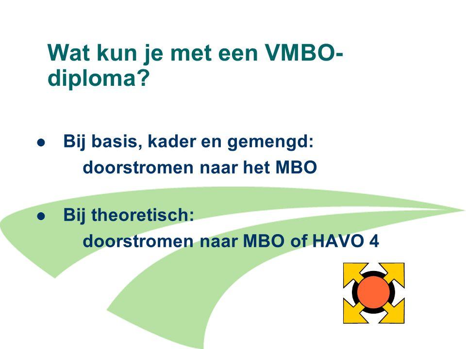 Wat kun je met een VMBO- diploma