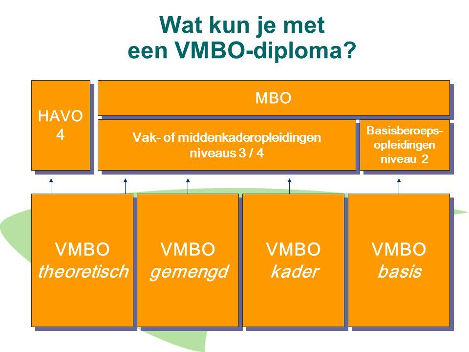 Wat kun je met een VMBO-diploma
