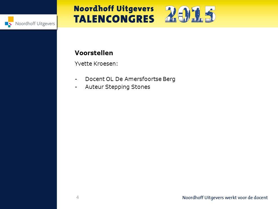 Voorstellen Yvette Kroesen: Docent OL De Amersfoortse Berg