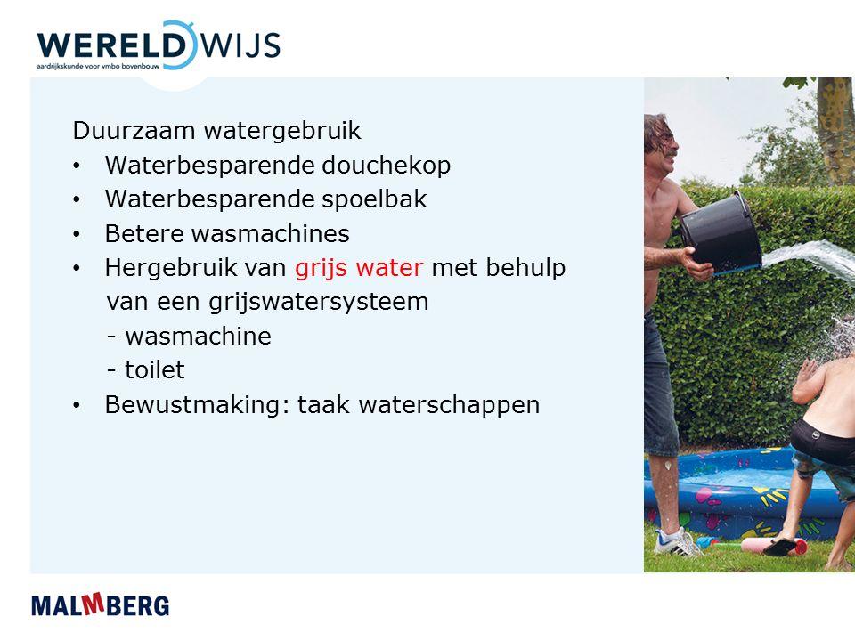 Duurzaam watergebruik