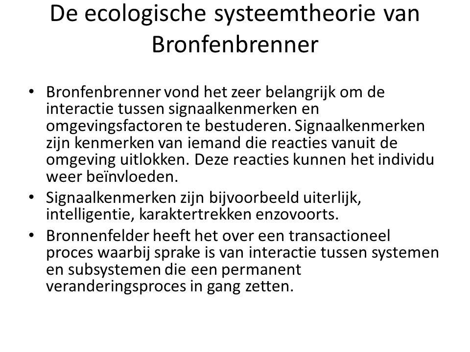 De ecologische systeemtheorie van Bronfenbrenner