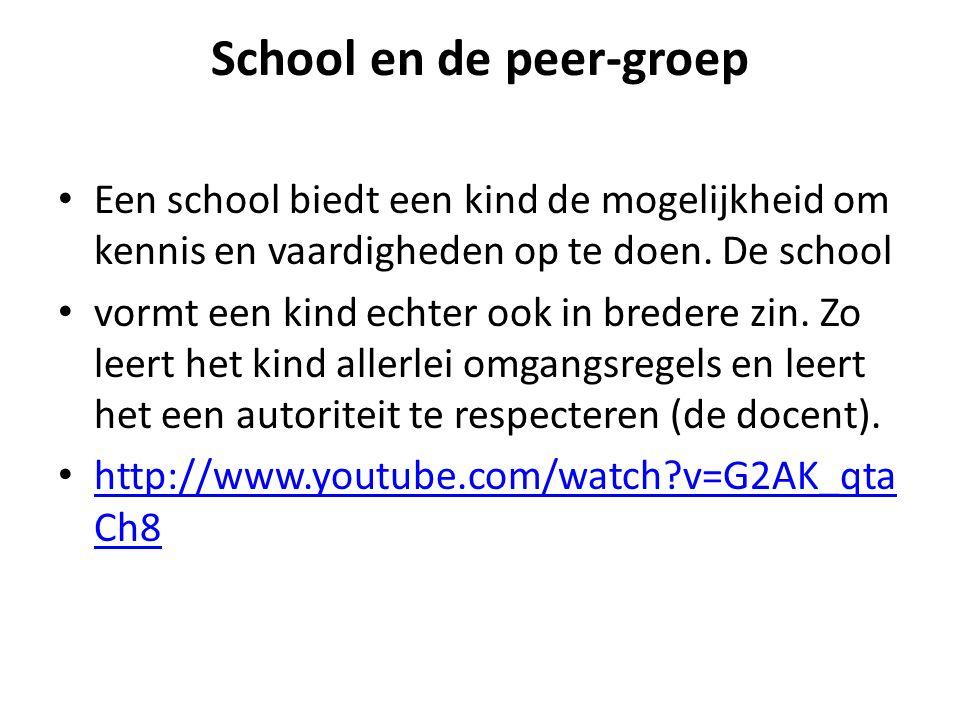 School en de peer-groep