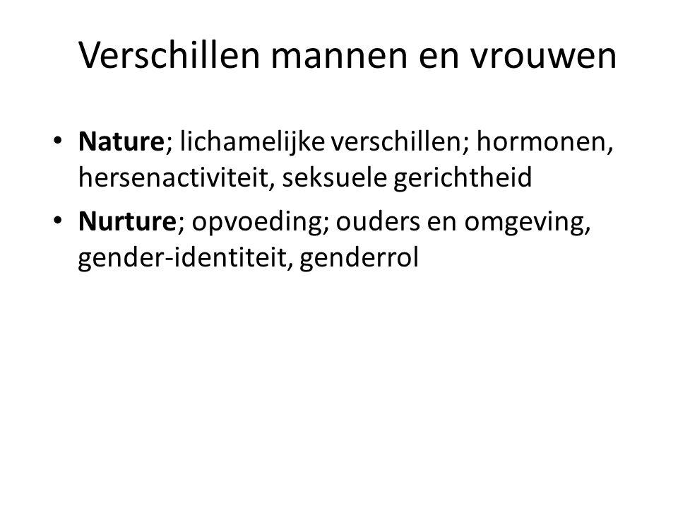 Verschillen mannen en vrouwen