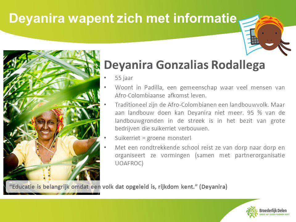Deyanira wapent zich met informatie