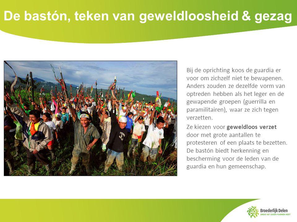 De bastón, teken van geweldloosheid & gezag