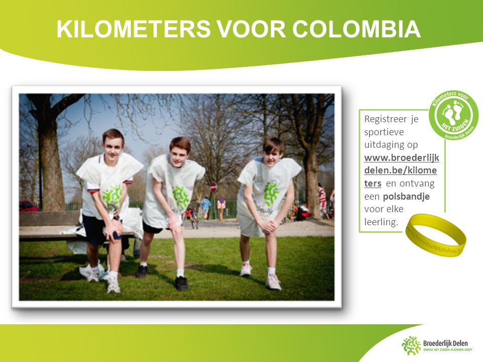 KILOMETERS VOOR COLOMBIA