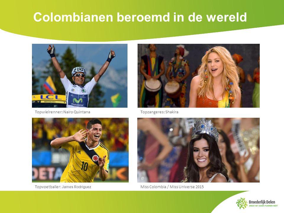 Colombianen beroemd in de wereld