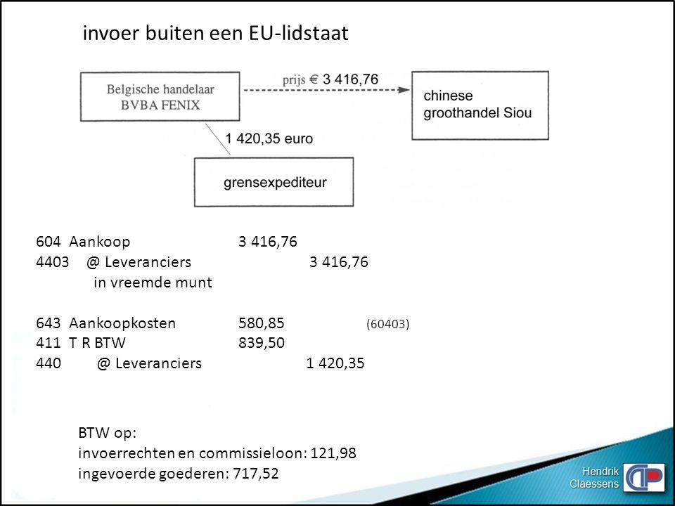 invoer buiten een EU-lidstaat