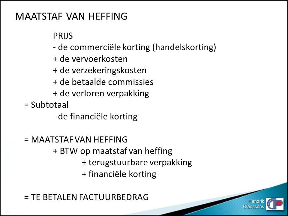 MAATSTAF VAN HEFFING