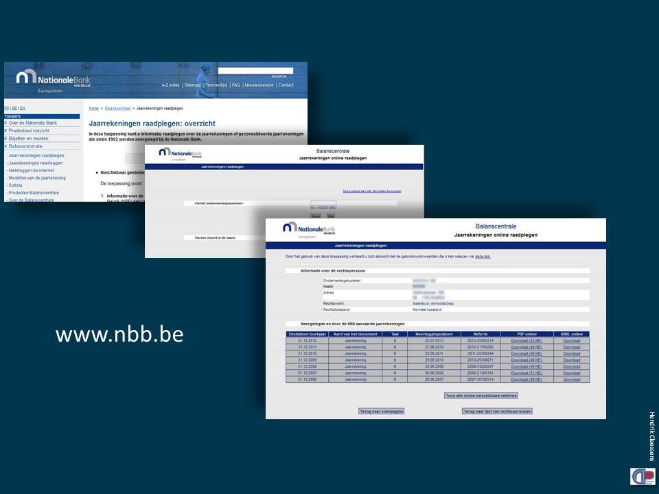 www.nbb.be De jaarrekening wordt jaarlijks door iedere onderneming verplicht afgegeven (of maw neergelegd) bij de Nationale Bank van België.