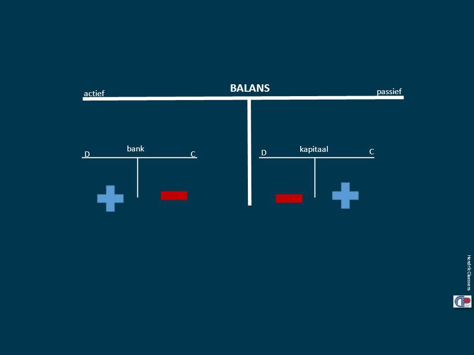 BALANS actief passief bank kapitaal D C D C