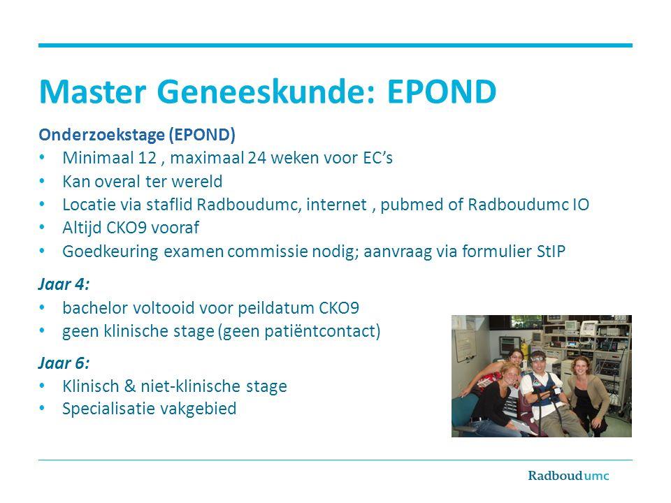 Master Geneeskunde: EPOND