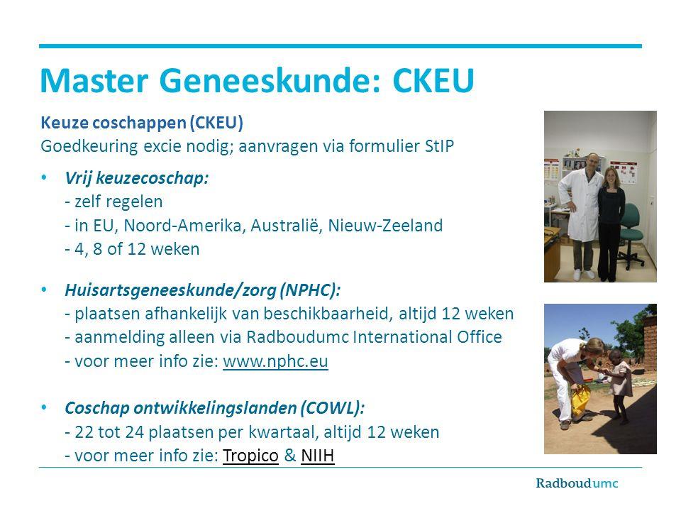 Master Geneeskunde: CKEU