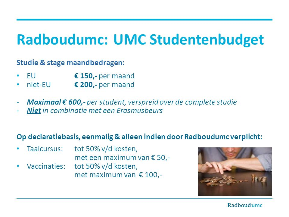 Radboudumc: UMC Studentenbudget